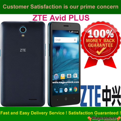 Cone how to unlock zte avid plus the phone