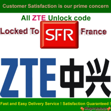 ZTE NP Password / Network Unlock Code- ZTE Unlock code for SFR France