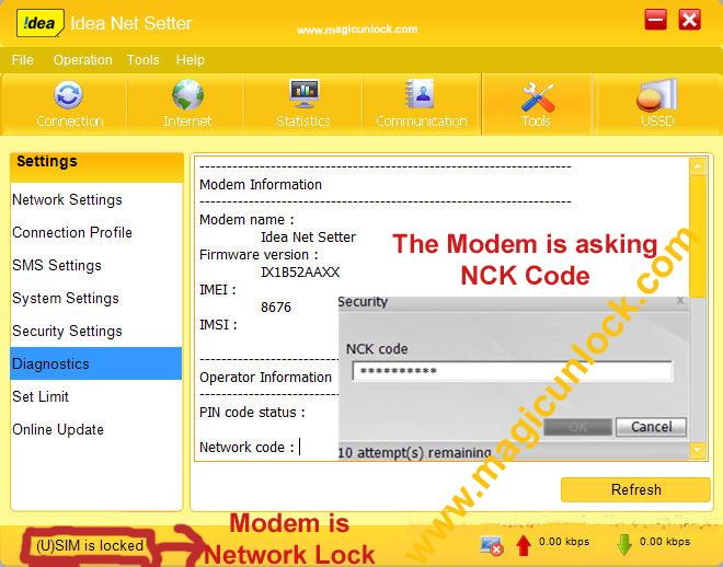 type zoom nck code generator alcatel modem app