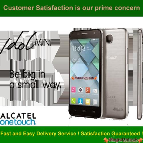 Alcatel One Touch Idol Mini Enter SIM Me Lock / Unlock Code
