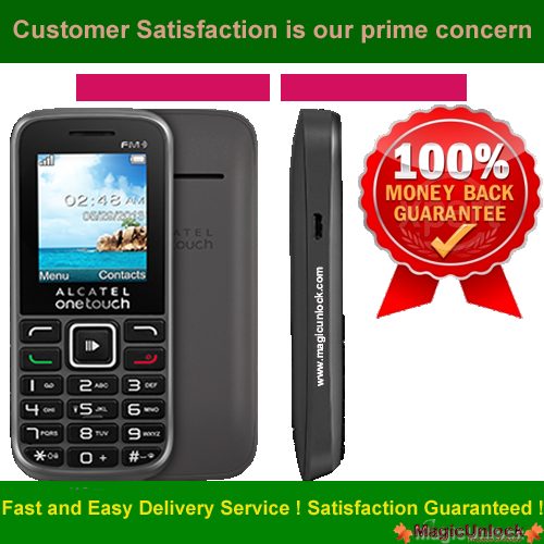 Alcatel One Touch 1041 Network Key / Unlock Code
