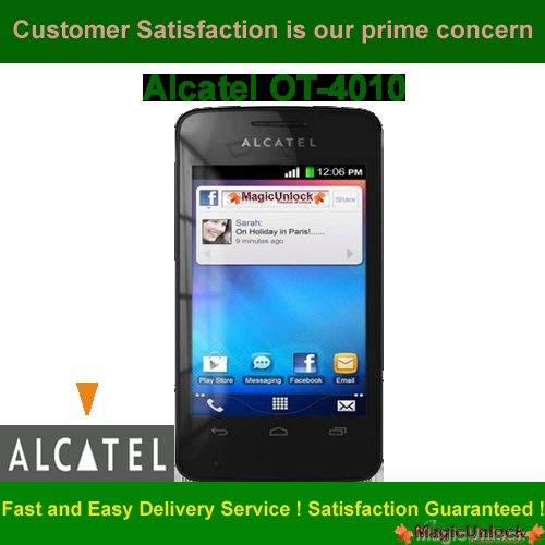 Alcatel One Touch 4010X SIM ME LOCK / Enter Sim Me Code