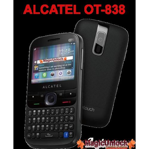 ALCATEL ONE TOUCH OT-838 Network Key / Unlock Code