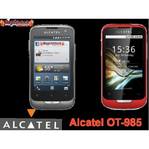 Alcatel One Touch OT-985 Sim Network Unlock Pin / Unlock Code