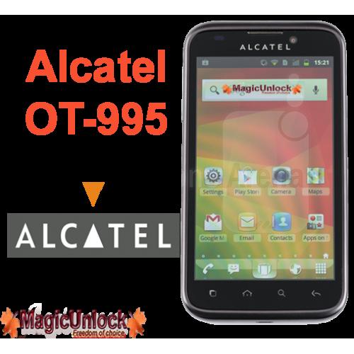 Alcatel One Touch OT-995 Sim Network Unlock Pin / Unlock Code