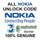 NOKIA BB5 & SL3 Network Unlock Code / Restriction Code For Three ( 3 ) 3 Hutchison Ireland
