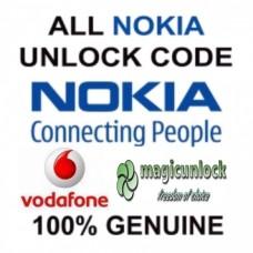 NOKIA BB5 & SL3 Network Unlock Code / Restriction Code For Vodafone Spain