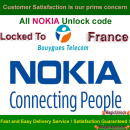 NOKIA BB5 & SL3 Network Unlock Code / Restriction Code For Bouygues France