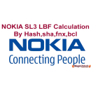 NOKIA SL3 LBF Calculation Normal mode by hash,sha,log