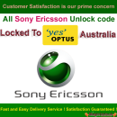 Sony Ericsson Sim Network Unlock Pin / Network Unlock Code - Unlock code for Optus Australia network.