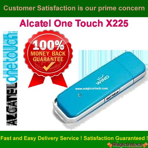 Alcatel One Touch X225L Modem Network Unlock Code / NCK Code