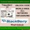 Blackberry MEP Code / Network Unlock Code