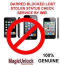 iPhone 5, 4S, 4, 3GS & 3G Blocked Lost Stolen Status Check Service by IMEI