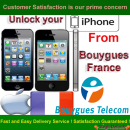 iPhone 5C, 5S, 5, 4S, 4, 3GS & 3G Permanent Unlocking service by imei from Bouygues France network