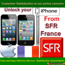 iPhone 5C, 5S, 5, 4S, 4, 3GS & 3G Permanent Unlocking service by imei from SFR FRANCE network