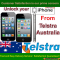 iPhone 5C, 5S, 5,4S, 4, 3GS & 3G Permanent Unlocking service by imei from Telstra Australia Network
