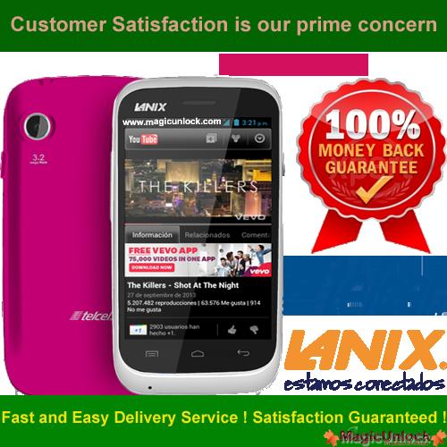 Lanix S120 Network Unlock Code / SIM network unlock pin