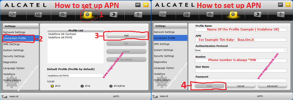 Alcatel Unlock Code